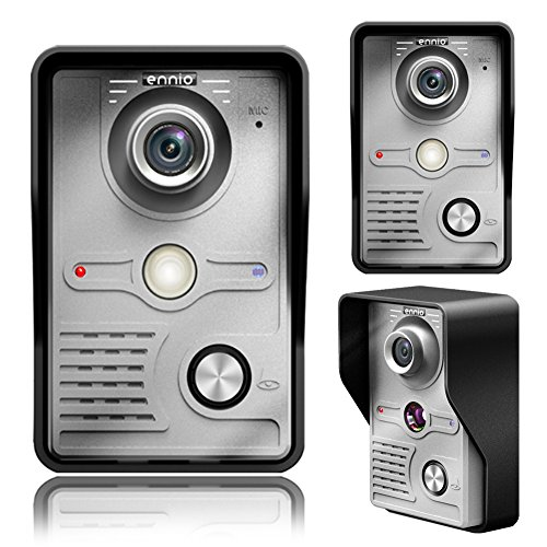 7'' Wired Video Door Phone Doorbell Intercom Systems for Home 1-camera 1-monitor Night Vision by Childplaymate (Image #2)