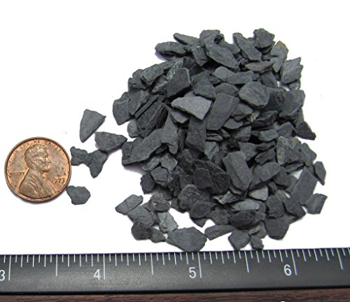 Natural Slate Stone - 1/8 to 1/4 inch Slate Gravel for Miniature or Fairy Garden, Aquarium, Model Railroad & Wargaming 1lb by Small World Slate & Stone (Image #1)