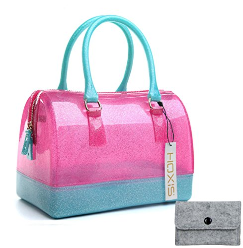 Hoxis Summer Glamorous Doctors Style Satchel Candy Hand Bag
