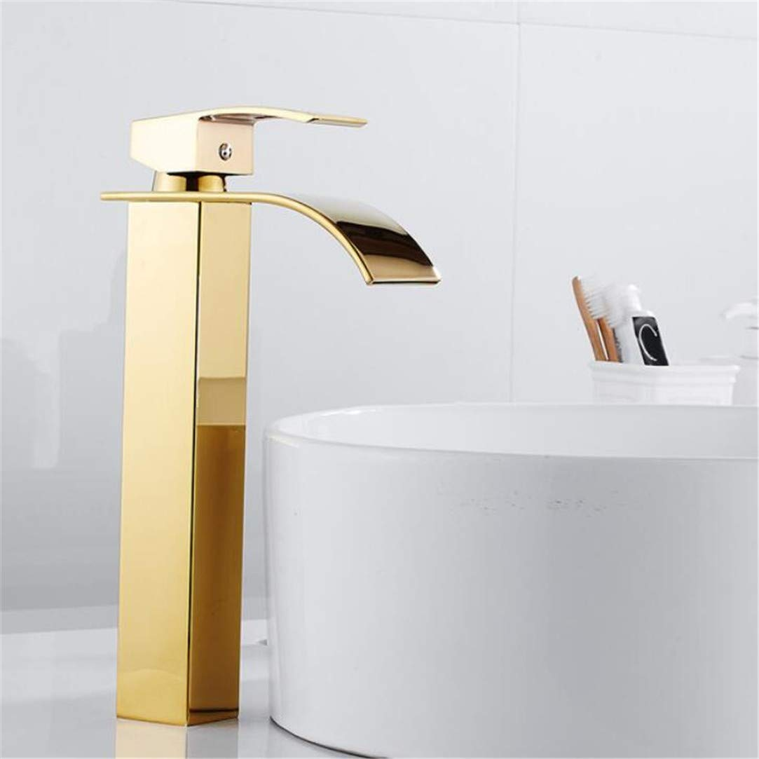 Faucet Washbasin Mixer Water Tap Bathroom Faucet Solid gold Faucets Single Handle Water Sink Tap Mixer