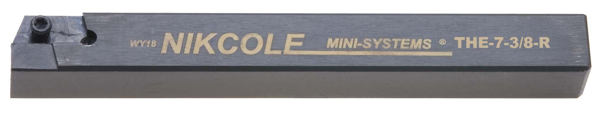 Nikcole THE-7-3/8-R .375'' Sq. RH Mini-System Tool Holder