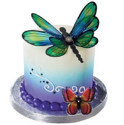 CakeSupplyShop 10inch X 10inch X 12inch Tall Tiered Double Layer Cake Carry Transport Box - 1ct with Butterfly Cake Topper