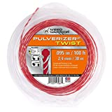 Weed Warrior 17068 Pulverizer Bi-Component Twist Trimmer Lines, 095' by 100'