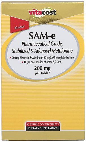 Vitacost SAM-e — 200 mg per tablet – 60 Enteric Coated Tabs