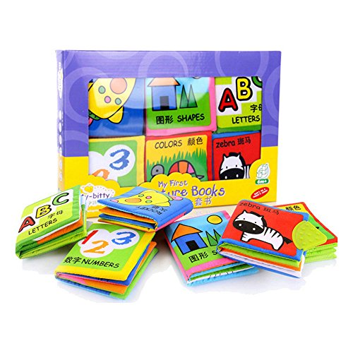 6pcs Soft Cloth Books Rustle Sound Educational Stroller Toy - 1