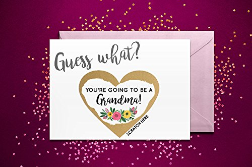 you/'re going to be a grandad scratch card pregnancy reveal announcement floral