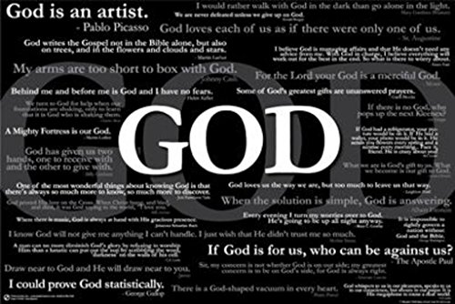 Faces of God Famous Quotes Religious Motivational Poster 24 x 36 inches