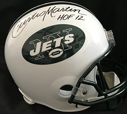 Curtis Martin Autographed New York NY Jets Full Size FS Helmet With Hall of Fame HOF 2012