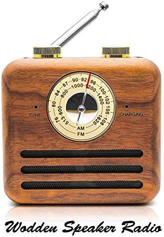 나무 라디오 레트로 USB 충전 2200mAh 9 시간 내내 일본어 설명서 첨부 방재 상품 재해 대책 비축 콤팩트 귀여운 멋쟁이 예쁜 데스크 소형 AMFM 와이드 FM / Wooden Radio Retro USB Charging 2200mAh 9 Hours Running Japanese Manual With Disaste...