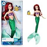 DISNEY STORE ARIEL CLASSIC DOLL WITH FLOUNDER 12""