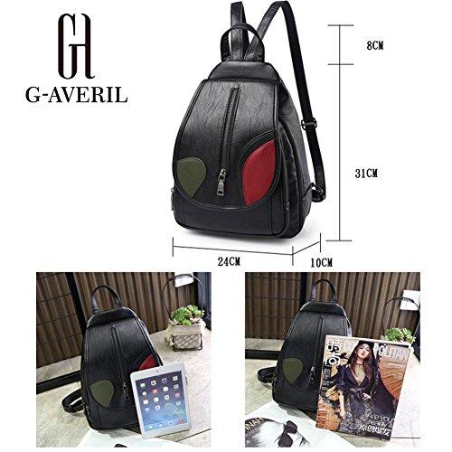 G-AVERIL GA1161-L - Bolso mochila  para mujer verde verde plateado