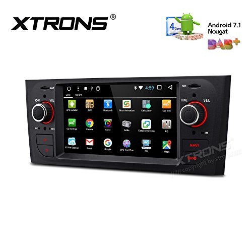 XTRONS 6.1 Inch Android 7.1 HD Digital Multi-touch Screen Car Stereo GPS Player Radio OBD2 Wifi for FIAT Grande Punto