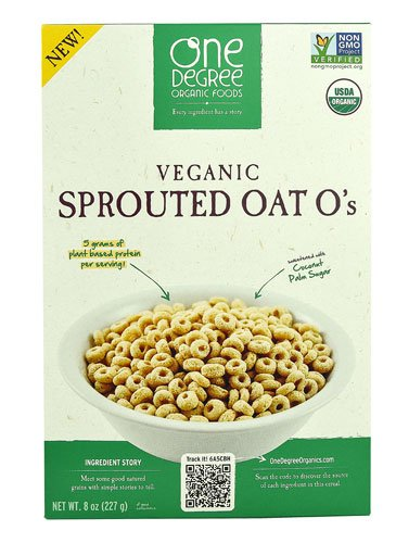 One Degree Organic Foods Veganic Sprouted Oat O's -- 8 oz - 3PC by One Degree Organic Foods