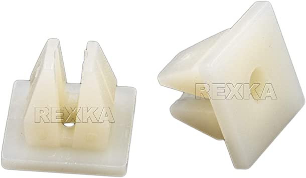 100 Bumper Nylon Nut #8 Screw Size Grommet Auto Clip Plastic Retainer 10mm Head