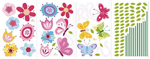 Bright Butterfly Garden Decorative Peel & Stick Wall Art Sticker Decals by CherryCreek Decals (Image #3)