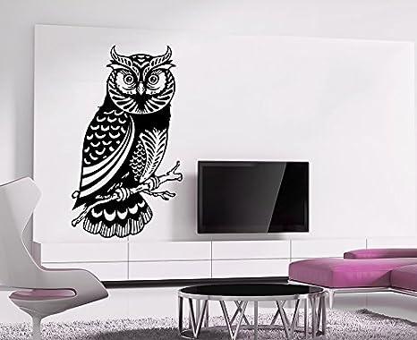 amazon com owl wall decals bird night feather animal wings flight