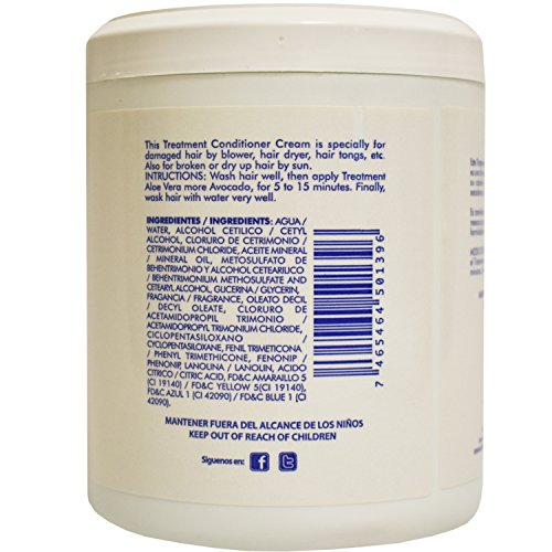 Amazon.com : Dominican Hair Product Naturals Key Aloe Vera and Avocado Treatment Conditioner 16oz : Hair And Scalp Treatments : Beauty