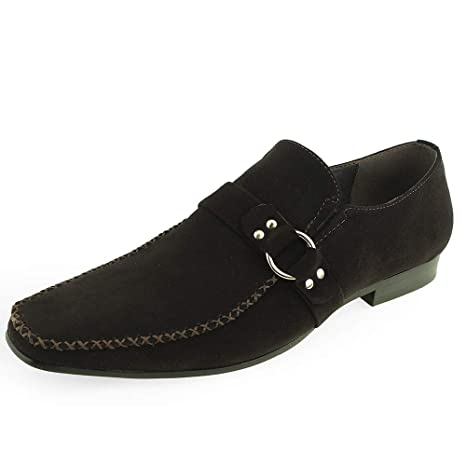 Mocasines de Ante Moc Toe de Ante para Hombre Vestidos Mocasines (Color : Marrón,