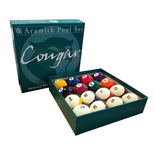 Aramith Pool Set with Magnetic Couger Cue Ball