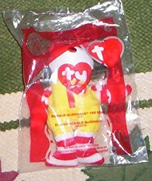 Ronald Mcdonald the Bear Ty Beannie 2004 by McDonald Corp