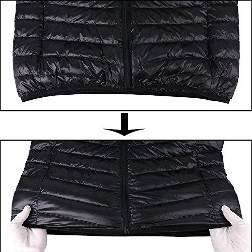 Leggero Il Piumino Puffer Natura Cappuccio Nero Pulcino Peso Con Ciliegio Maschile afwf5qF