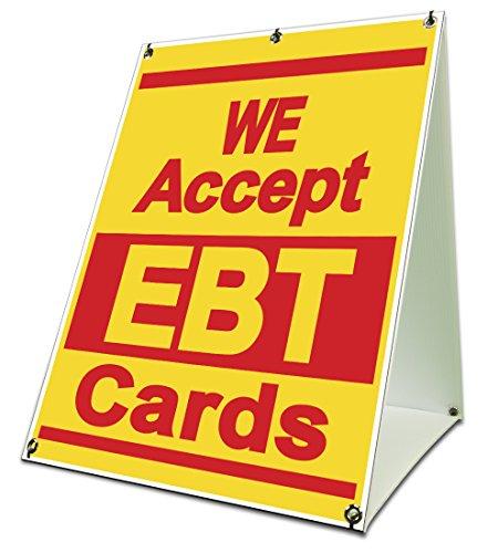 We Accept EBT Sidewalk A Frame 18