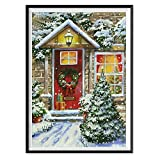 Cross Stitch Home Decor,5D Christmas Diamond Rhinestone Pasted Embroidery Painting (H)
