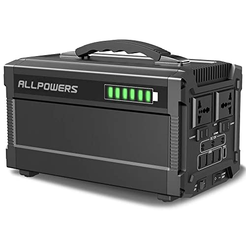 ALLPOWERS Portable Generator 288W 780000mAh Power Station Power Supply for Outdoors Camping Home Use Emergency Backup with Quiet DC AC Power Inverter, Charged by Solar Panel Wall Outlet
