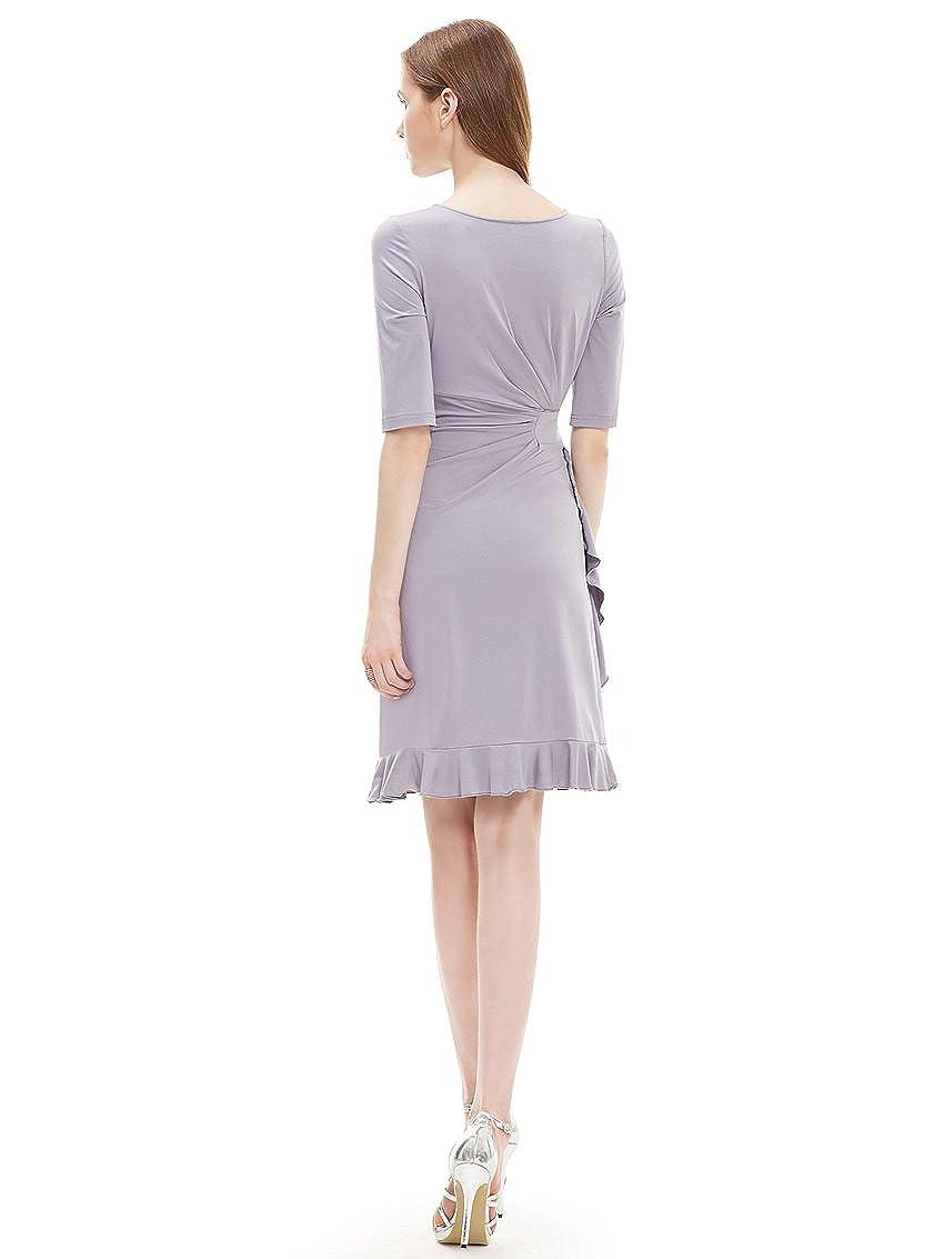 Ever Pretty Stylish Half Sleeve Ruffled Bottom Stretch Party Dress 03900: Amazon.co.uk: Clothing