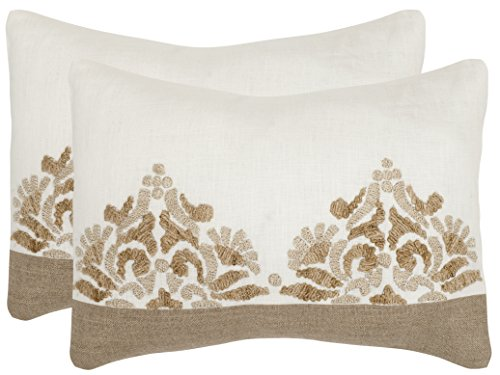 Safavieh Pillow Collection Throw Pillows, 12 by 20-Inch, Mar