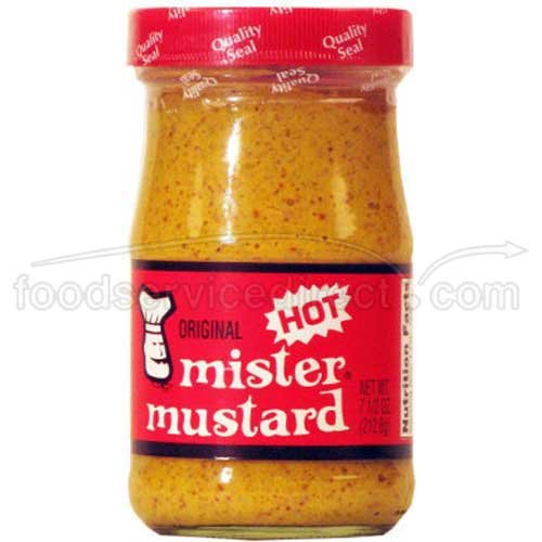 Mister Mustard Hot - 7.5 ounce - 12 per case.