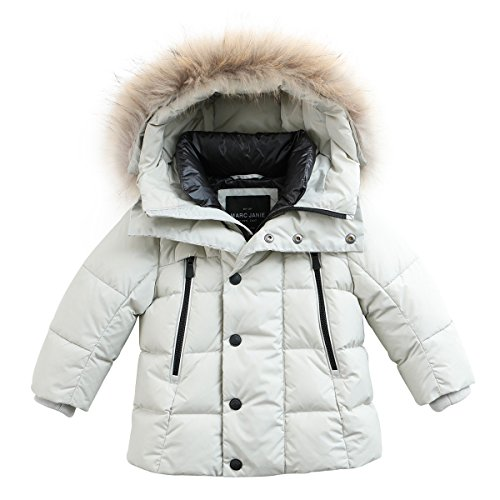 335cf0405 marc janie Baby Boys Kids  Lightweight Down Jacket With Raccoon Fur ...