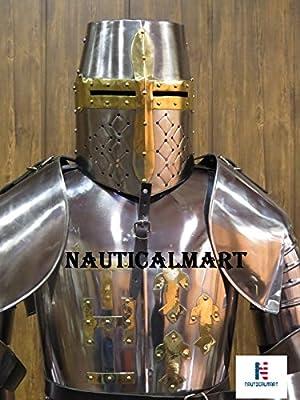 Caballeros templarios Medieval traje de Armor tamaño completo y ...