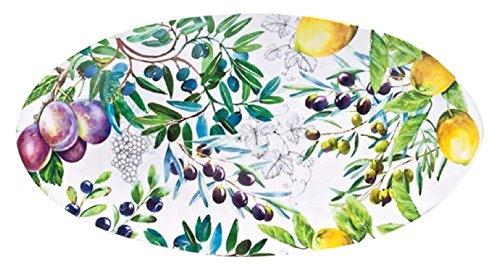 Melamine Oval Serving Platter (Michel Design Works Melamine Oval Serving Platter, Tuscan Grove)