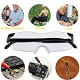 LE4U Big Vision Glasses as Seen on TV - Big Vision Eyeglasses with 160% Magnification Convenient and Durable - Unisex - Black Frameless Magnifying Glasses - Contain EVA Leather Zipper Glasses Case