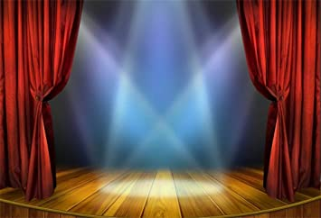 Zhy Stage Red Carpet Curtain Flashlight Backdrop 7x5ft Hollywood Award Ceremony Play Show Theater Photos Speech Lecture Community Activity Background Studio Props GEEV477