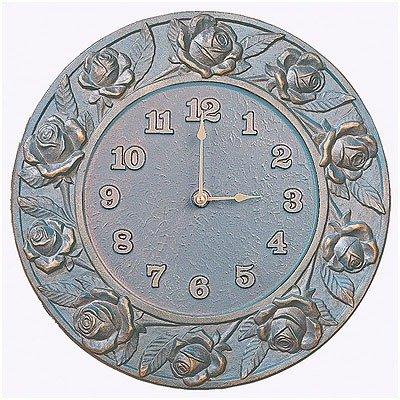 Whitehall French Bronze Rose Clock - 01925
