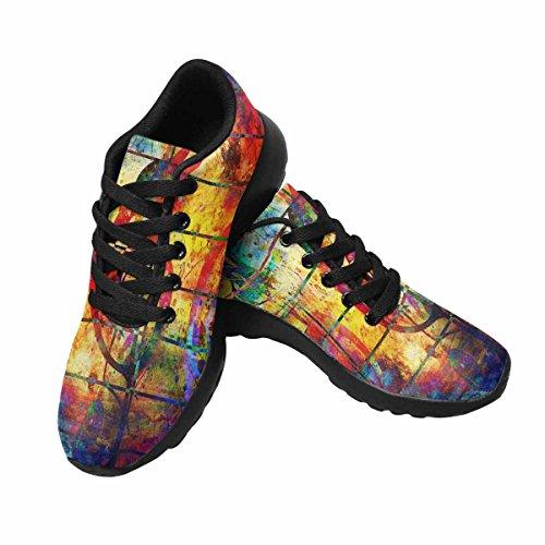 Interestprint Femmes Jogging Running Sneaker Léger Aller Facile Marche Confort Sport Chaussures De Course Notes De Musique Et La Clé De Violon Multi 1