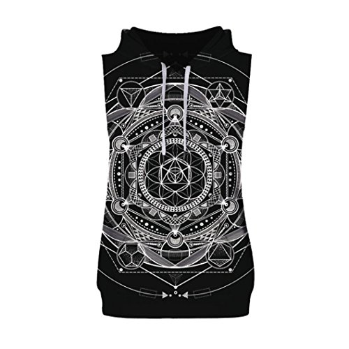 (Clearance Sale! Wintialy Men's Causal Fashion 3D Print Hoodie Sleeveless Singlet T-Shirt Top Vest Tank)