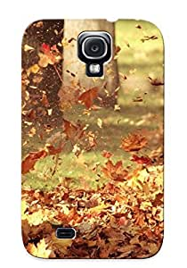 Yellowleaf Rugged Skin Case Cover For Galaxy S4- Eco-friendly Packaging(foliage Blown Away By Wind )