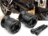black CNC Aluminum Carbon Fiber Swing Arm Spool Sliders Protector Fit For Yamaha FZ1 FAZER 2006-2012