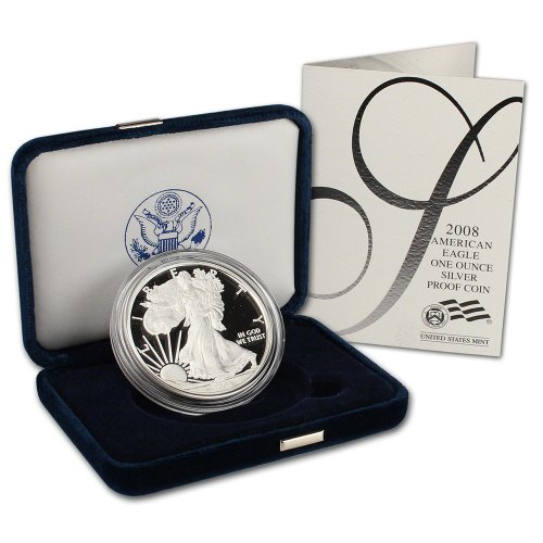 2008 W American Silver Eagle Proof $1 OGP U.S. -