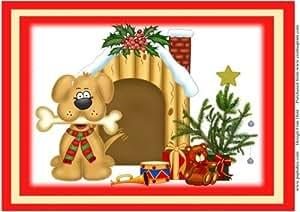 Rover de feliz Navidad por Frances Dent