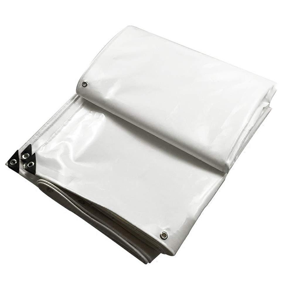 Tarpaulin NAN Heavy Duty Plane, gewebtes Polyethylen mit hoher Dichte und doppelt laminiert - 600 g/m², weiß - 100% wasserdicht und UV-geschützt (größe : 5  5m)