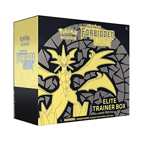 - Pokemon Sun & Moon 6 Forbidden Light Elite Trainer Box, Multicolor