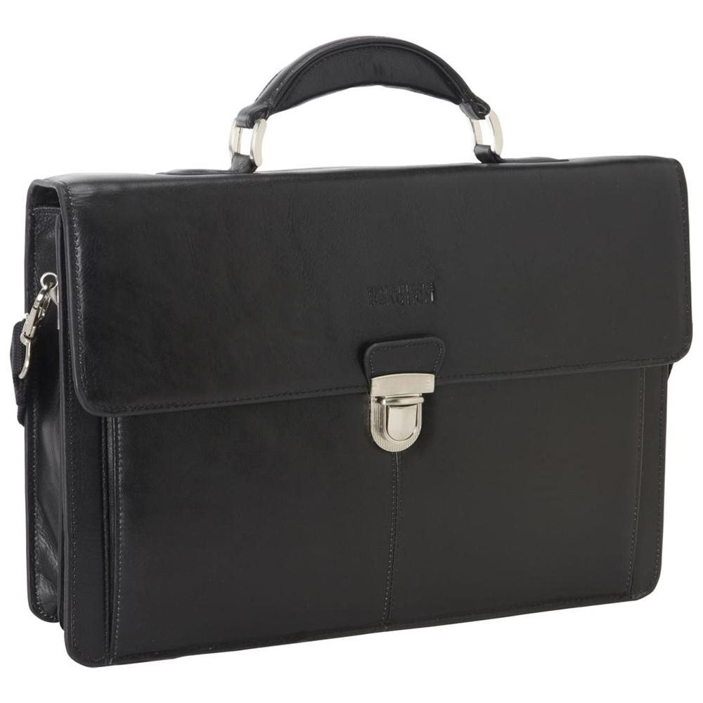 Kenneth Cole Reaction True Colors Genuine Leather Portfolio - Black 70054