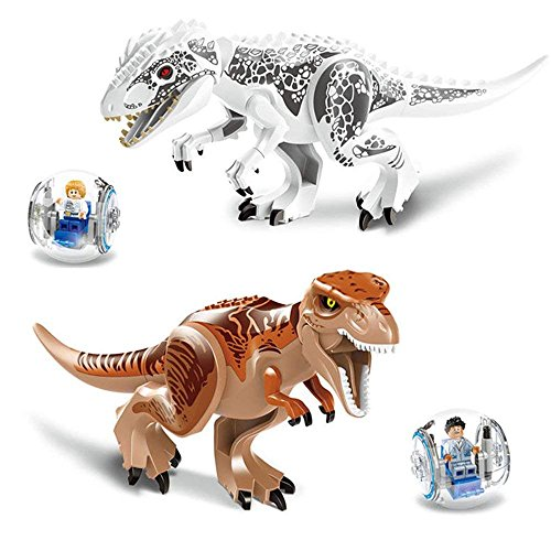 HOLIOS Dinosaur Toys Dinosaur Building Blocks 2 T-Rex Assembling Miniature 2 Escape Balls in All 4pcs Dinosaur Action Figures Educational Toys