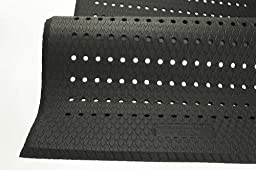 Andersen 413 Cushion Max Nitrile /PVC Rubber Anti-Fatigue Indoor Floor Mat with Holes, 6\' Length x 4\' Width, 5/8\