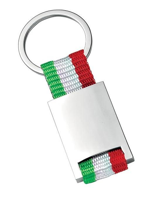 Ten Llavero con Tela de Bandera Italiana cod.EL5645 cm 3,5x8 ...