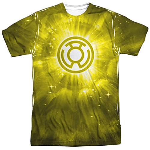 Energy -- Yellow Lantern All-Over Front Print Sports Fabric T-Shirt